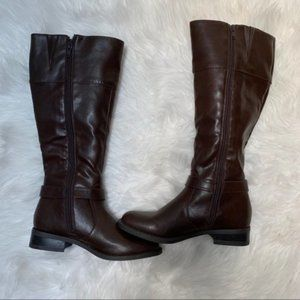 NEW Nine West  'Leowm' Brown Synthetic Riding Boot